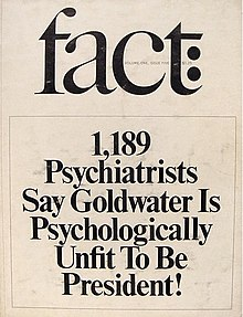 Goldwater Rule Wikipedia