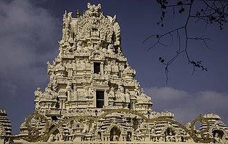 Cheluvanarayana Swamy Temple - Gopura at . the entrance
