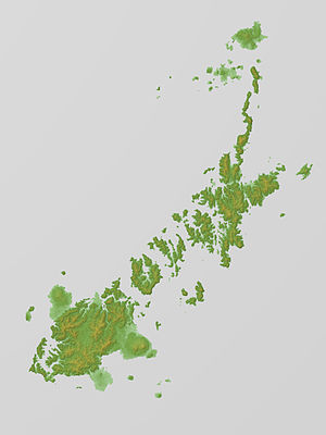 Gotō Islands - Relief Map