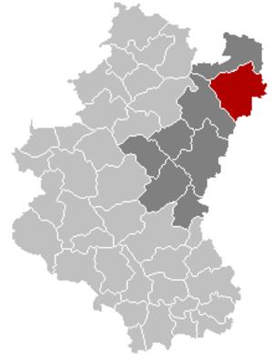 Gouvy - Image: Gouvy Luxembourg Belgium Map