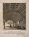 Grammar School, Rochdale, Lancashire; interior. Tinted litho Wellcome V0014404.jpg