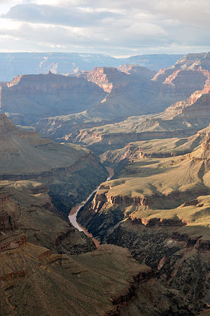 Colorado River - Colorado River in the Grand Canyon seen from Pima Point, near Hermit's Rest