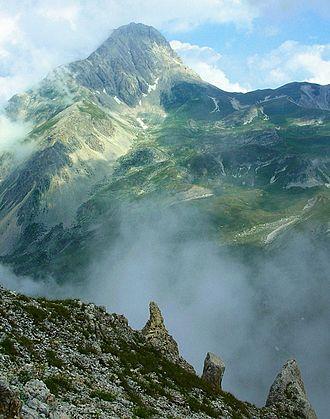 Assergi - Corno Grande, the highest peak in the Gran Sasso massif