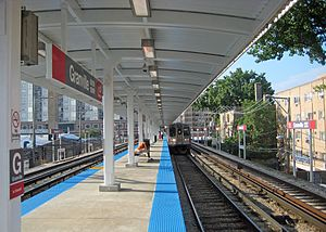 Granville station (CTA) - Image: Granvillectaredline