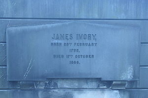 James Ivory, Lord Ivory - grave of Lord Ivory, New Calton Cemetery