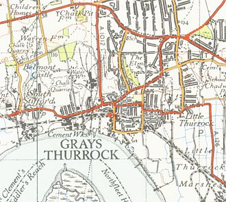 Ordnance Survey - Part of an Ordnance Survey map, at the scale of one inch to the mile, from a New Popular Edition map published in 1946