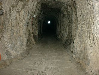 Great Siege Tunnels - Great Siege Tunnels in the Rock of Gibraltar.