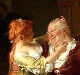 Doll Tearsheet - Doll Tearsheet with Falstaff, detail of a painting by Eduard von Grützner