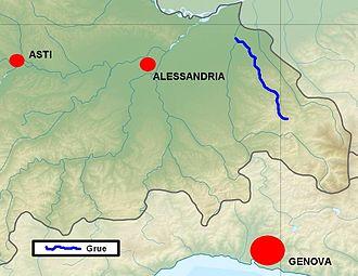 Grue (river) - Image: Grue localizzazione
