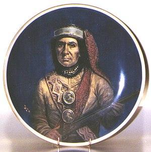 Guyasuta - Portrait of Guyasuta, artist unknown