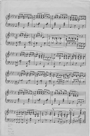 """""""Gypsy Blues"""" (sheet music) page 2 of 2."""