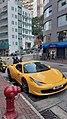 HK 上環 Sheung Wan 皇后大道中 Queen's Road Central carpark Yellow 法拉利 Ferrari race October 2019 SSG 03.jpg