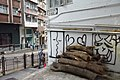 HK 上環 Sheung Wan 荷李活道 Hollywood Road 竹連里 Chuk Lin Lane tree wood trunk after storm October 2018 IX2 06.jpg