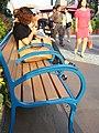 HK Ocean Park Bench public chair visitors Sep-2012.JPG