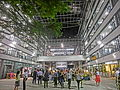 HK Sheung Wan PMQ mall Hollywood Road night courtyard May-2014 visitors.JPG