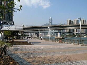 Tsing Yi - Tsing Yi Promenade in Tsing Yi Town along Rambler Channel