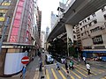 HK tram view 石塘咀 Shek Tong Tsui 德輔道西 Des Voeux Road West Hill Road flyover bridge October 2019 SS2 01.jpg