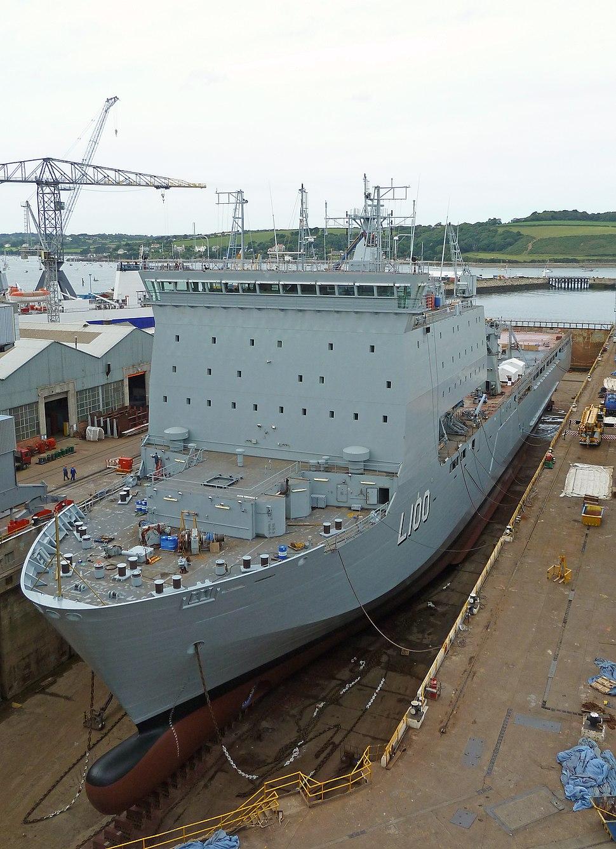 HMAS Choules in Falmouth Docks