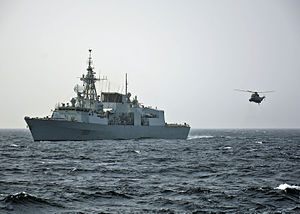 Halifax-class frigate - Image: HMCS Toronto (FFH 333) in the Mediterranean Sea in October 2014