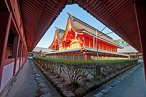 Hachiman-zukuri - Image: Hachiman zukuri Isaniwa shrine