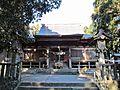 Haiden of Hitsujisaki-jinja shrine 1.JPG