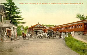 Hunter, New York - Haines Falls Railroad Station ca. 1900