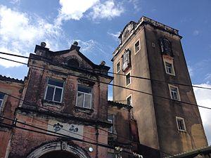 Qingxi, Dongguan - a Hakka tower in QingXi Town