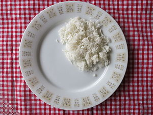 White rice - Cooked white rice