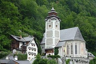 Католическая церковь Гальштата (Katholische Pfarrkirche Hallstatt)