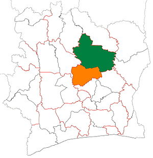 Hambol - Image: Hambol region locator map Côte d'Ivoire