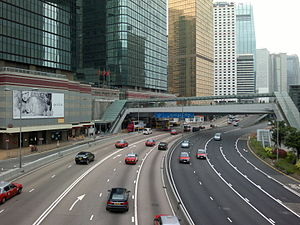 Left- and right-hand traffic - Hong Kong drivers on the left.