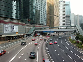 Harcourt Road - Harcourt Road in 2011, buildings include Bank of America Tower (Left).