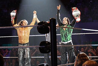 The Hardy Boyz - The Hardy Boyz as Raw Tag Team Champions in May 2017