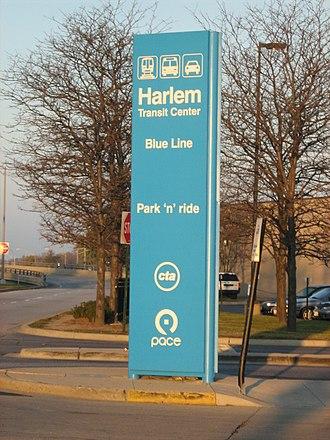 Harlem station (CTA Blue Line O'Hare branch) - Image: Harlem O'hare CTA Parking
