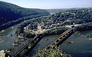 National Register of Historic Places listings in Jefferson County, West Virginia - Image: Harpers ferry