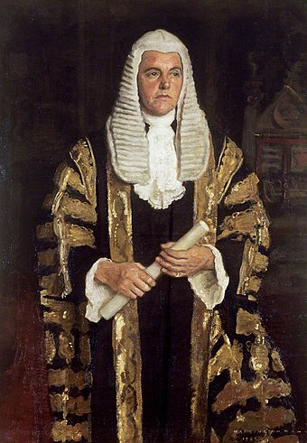 Harrington Mann - Frederick Smith, Earl of Birkenhead, Lord Chancellor 1922.jpg