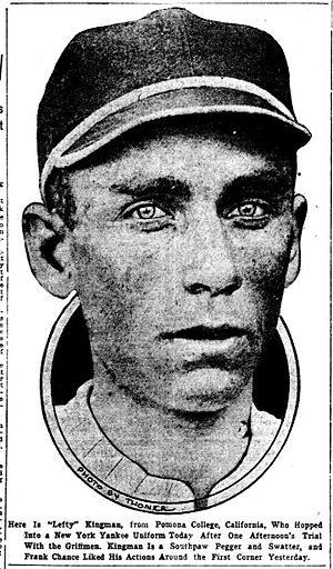 Harry Kingman - Image: Harry Kingman 1914