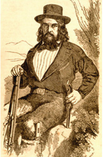 The Life and Adventures of Joaquín Murieta - Artist's depiction of Capt. Harry Love, member of The California State Rangers