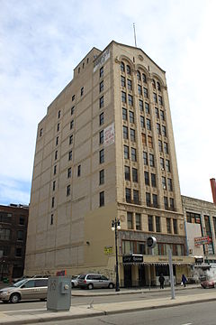 Harvard Square Centre building Detroit Michigan.JPG