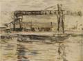 HasegawaToshiyuki-1931-Landscape with a Crane.png