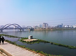 A beautiful view of the second bridge of Hatirjheel