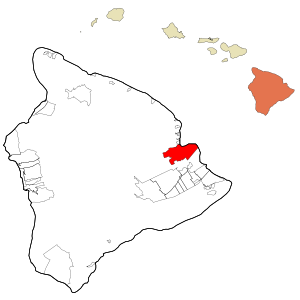 Hawaii County Hawaii Incorporated and Unincorporated areas Hilo Highlighted.svg