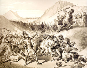 Hayk - Hayk defeats Bel with an arrow.