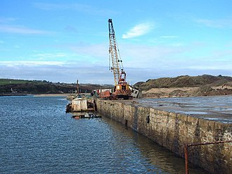 Hayle - Disused quay in Hayle harbour