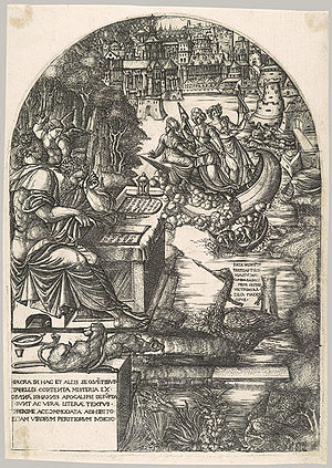 Jean Duvet - Frontispiece to the Apocalypse series, 1555.