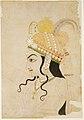 Head of Krishna cartoon for a mural of the Raslila.jpg
