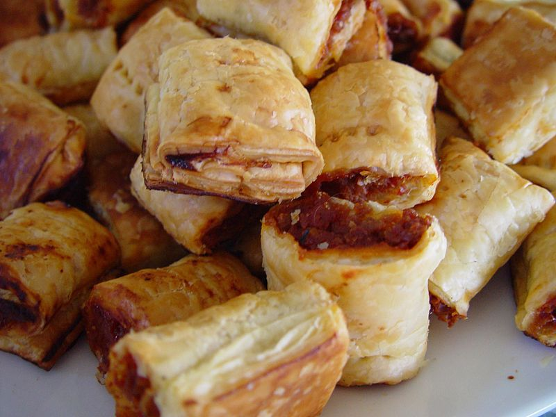 File:Heaps of sausage rolls.jpg