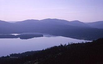 Heart Lake (Wyoming) - Image: Heart Lake From Mount Sheridan YNP1965