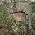 Heinolan Ala-Rievelin kalliomaalaus, näkymä kohti maalauskalliota.jpg
