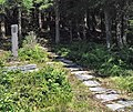 Hellevegen på Brekke med minnesteinen.jpg